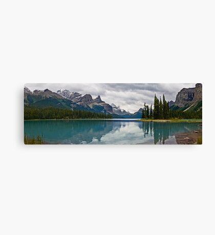 Approaching Storm, Maligne Lake Canvas Print