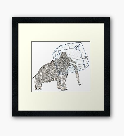 head cold Framed Print
