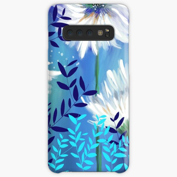 Blue Tranquility Flower Meadow Samsung Galaxy Snap Case