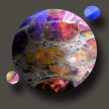 Oil slick Planets by bluegoddess