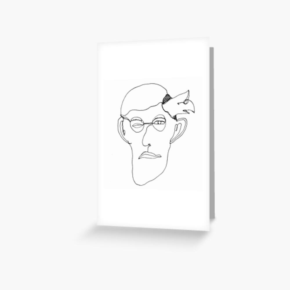 self-portrait Grußkarte
