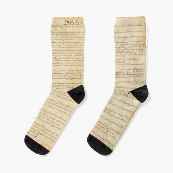 Original Page 1 of the United States Constitution Socks