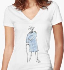 yo-ho Women's Fitted V-Neck T-Shirt