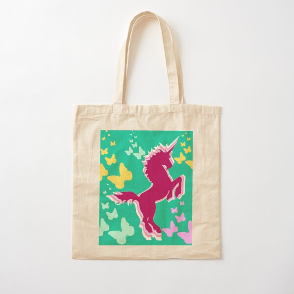 Butterfly Wings & Unicorn Dreams Cotton Tote Bag
