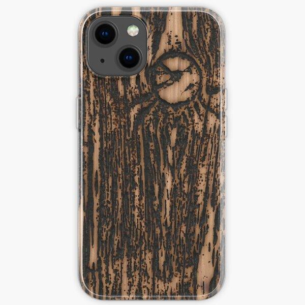 burnt wood iPhone Soft Case