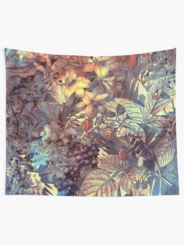 Alternate view of flowers 12 #flora #flowers Tapestry