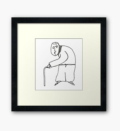 old man Framed Print