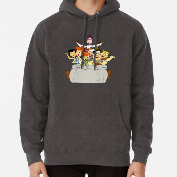 The Flintstones in the stone-car Pullover Hoodie