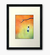 Her Heart Where I Dream (She comes To me She Let's Me See); pastels Framed Print