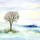 Lone Tree in the Snow by CarolineLembke