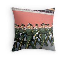 Marching in the Forbidden City Throw Pillow
