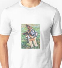 German Shepherd Fine Art Painting Unisex T-Shirt