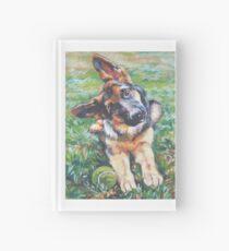 German Shepherd Fine Art Painting Hardcover Journal