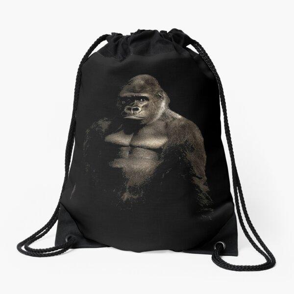 Gorilla Art Design for Ape Lovers Drawstring Bag