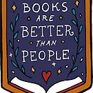 Books are better than people by illustore