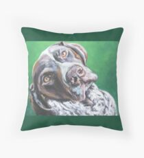 German Shorthaired Pointer Fine Art Painting Throw Pillow