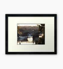 Arch Bridge On A Summers Evening Framed Print