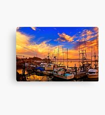 The Dock At Sunset Canvas Print