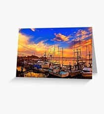 The Dock At Sunset Greeting Card