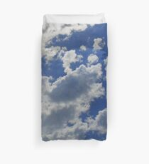 Sky Blue - Sweet Dreams Floating on Clouds Bedspread Pillow Duvet Cover