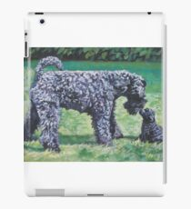 Kerry Blue Terrier Fine Art Painting iPad Case/Skin