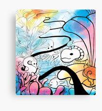 Coral Bed Dreams Canvas Print