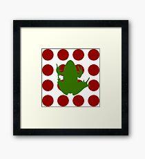 Simple Frog in the Bog Framed Print