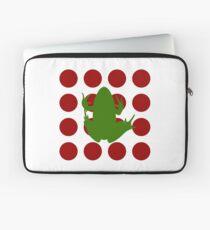 Simple Frog in the Bog Laptop Sleeve