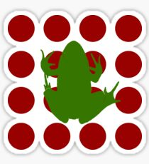 Simple Frog in the Bog Sticker