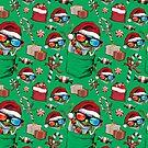 Christmas Frog Santa Hat by MudgeStudios