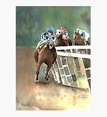 Into The Stretch And Heading For Home-Secretariat Photographic Print
