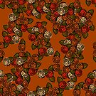 Fall Flowers- Orange by Margaret French