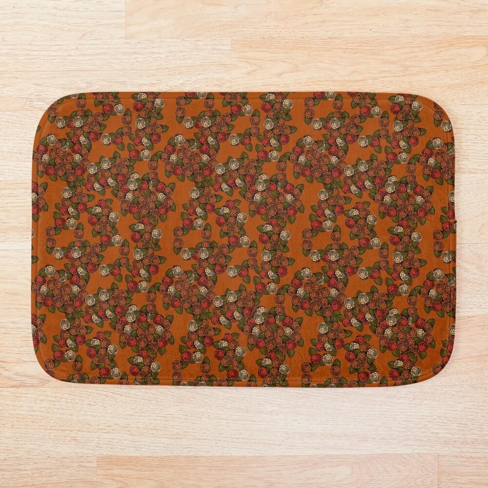 Fall Flowers- Orange Bath Mat