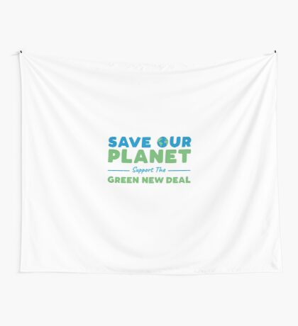 Climate Change - Support the Green New Deal Wall Tapestry