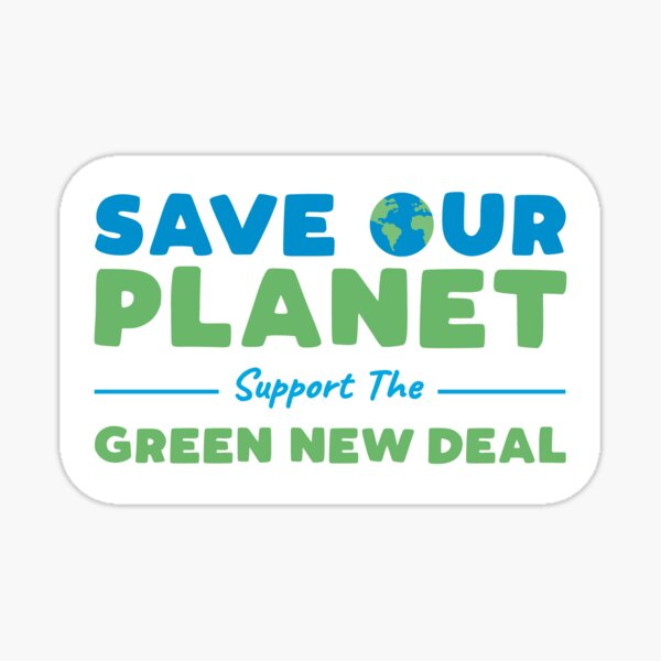 Climate Change - Support the Green New Deal Sticker