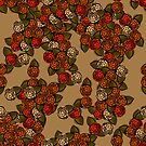 Fall Flowers- Tan by Margaret French
