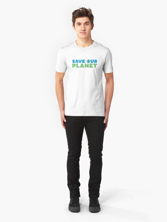 Alternate view of Save Our Planet Slim Fit T-Shirt