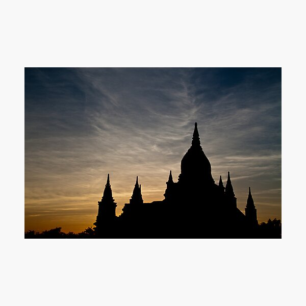 Bagan Temple at sunset Photographic Print