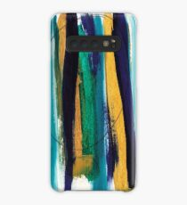 Blue and Yellow Abstract , relief Case/Skin for Samsung Galaxy
