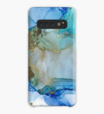Gold and Turquoise Abstract, All that Glows Case/Skin for Samsung Galaxy