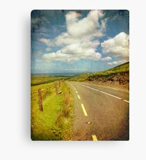 Rural Countryside Scenic Drive, County Kerry, Ireland Canvas Print