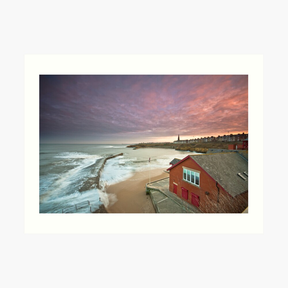 Cullercoats harbour Art Print