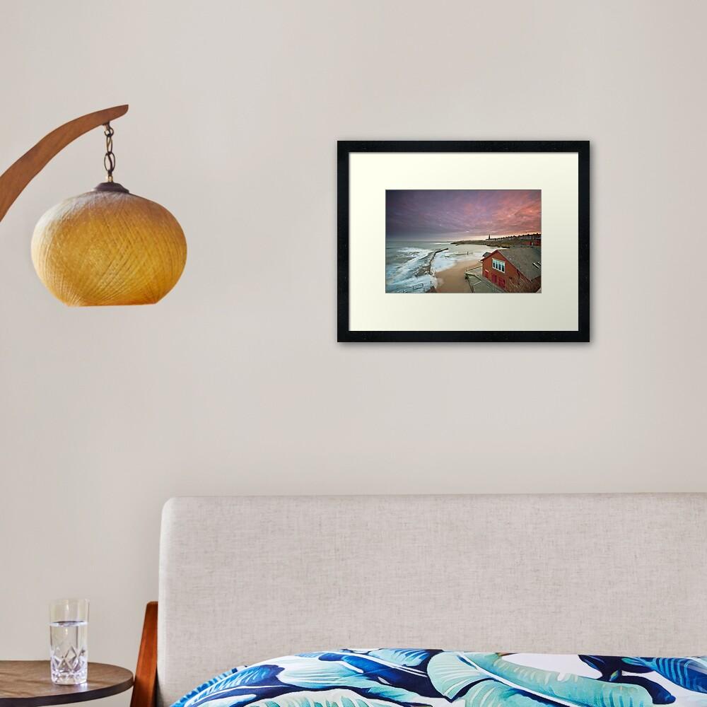 Cullercoats harbour Framed Art Print