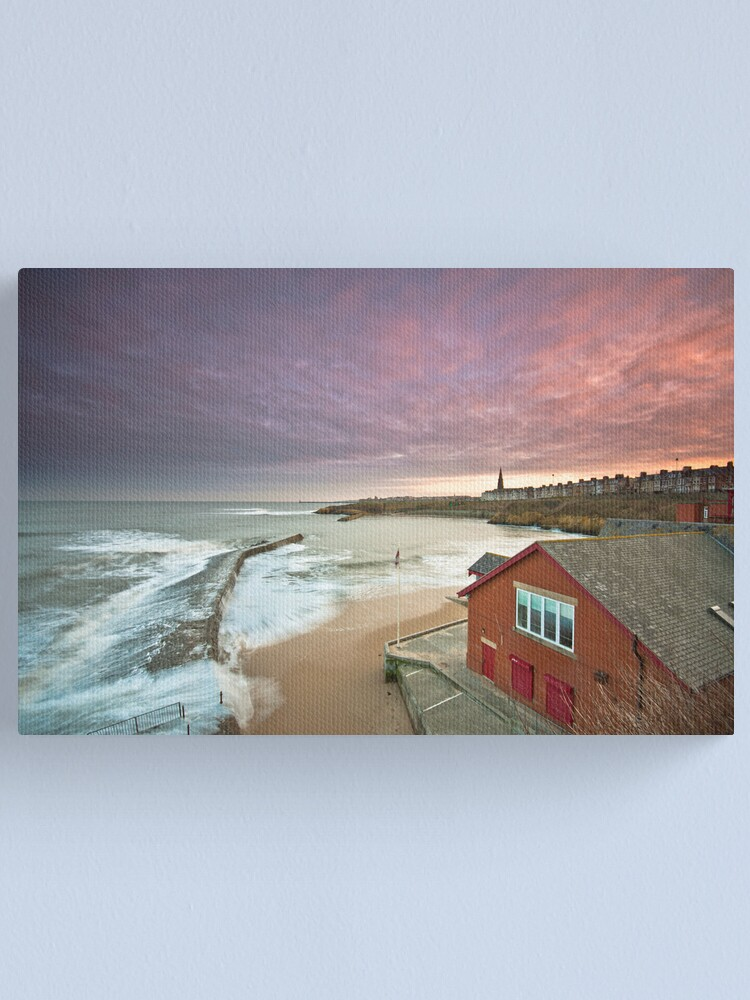 Alternate view of Cullercoats harbour Canvas Print