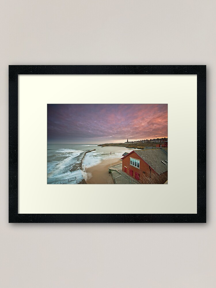 Alternate view of Cullercoats harbour Framed Art Print