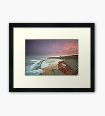 Cullercoats harbour Framed Print
