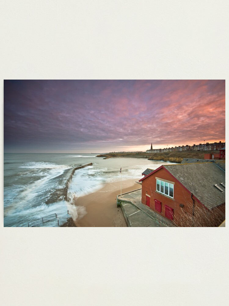 Alternate view of Cullercoats harbour Photographic Print