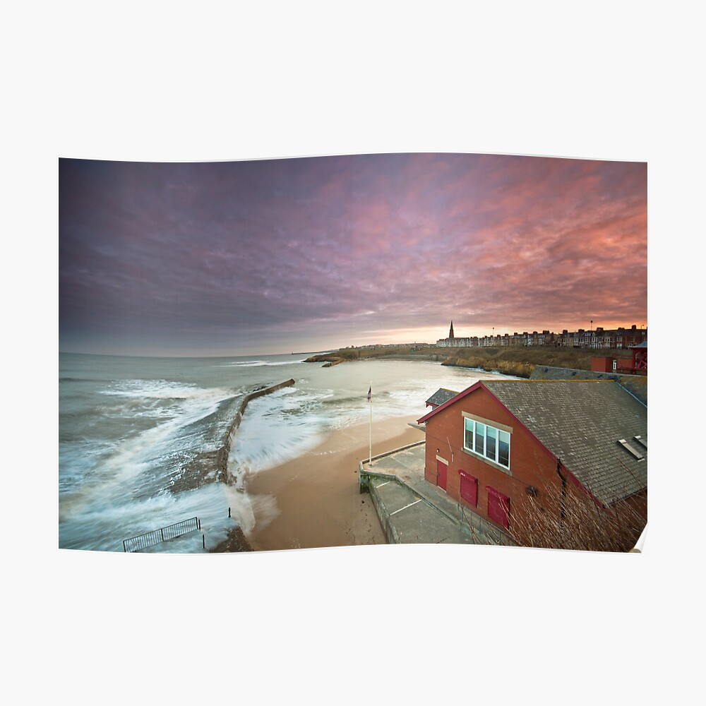 Cullercoats harbour Poster