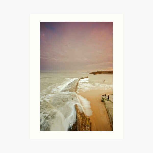 Avoiding the waves Art Print