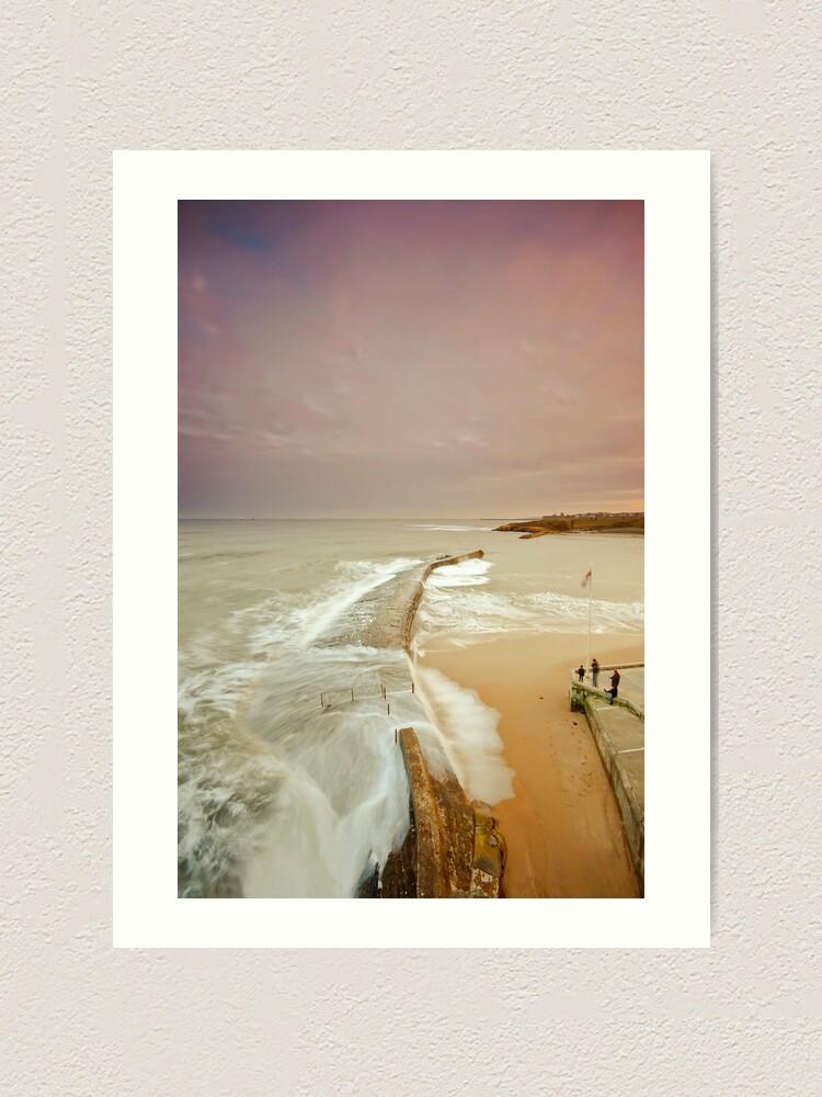Alternate view of Avoiding the waves Art Print